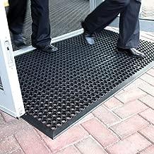 Lovinland Outdoor Mat Rubber Drainage Mat Non-Slip Mat 60 x 35 Inch Commerical Heavy Duty Mat for Resturant Kitchen Bar Garage Garden Industral Indoor Use Black
