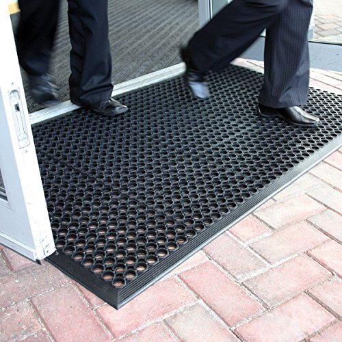 The Shopfitting Shop Large Outdoor Rubber Entrance Mats Anti Fatigue None Slip Drainage Door Mat Flooring Size 0.9 Metre x 1.5 Metre