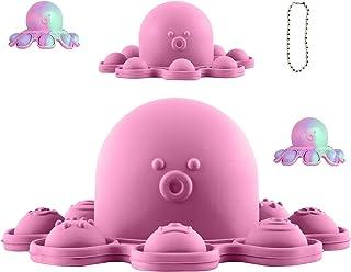 Push Pop Bubble Fidget Sensory Toy,Pop It Fidget Toy Reversible Octopus,Fidget Packs,Tie Dye Simple Dimple Popping,Silicon...