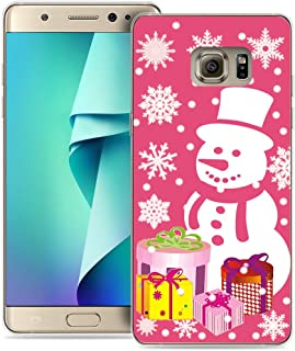Note 5 Case Christmas Scene/IWONE Designer TPU Rubber Durable Compatible Cover Shockproof Replacement for Samsung Galaxy Note 5 + Christmas Theme Design Cute Scene Story Gift Present Pink