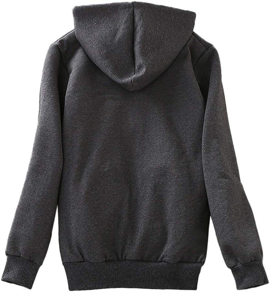 Hniunew Frauen Casual Winter Warm Sherpa GefüTtert Zip Up Kapuzenpullover Jacke Mantel Winderbreaker Fully Fleece Lined Hoodie Sweatshirt Grau
