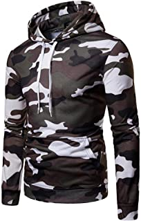 ARTFFEL Mens Winter Color Block Thicken Camouflage Hooded Down Quilted Jacket Coat