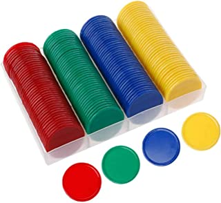 HassanOuld Round Chip Set 160pcs / Box Chips Family Game Chip Professional Educational Digital Chips