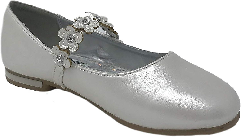 AADI Girls Daisies Strap Leatherette Shoes Mary Jane Ballerina Dress
