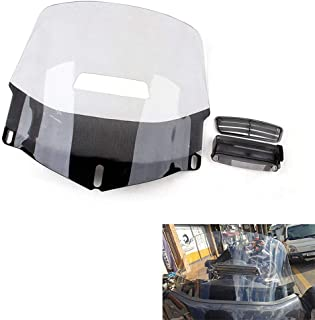 Motorcycle Windscreen Windshield + Air Vented For Honda Goldwing GL1800 2001-2015 (Clear)