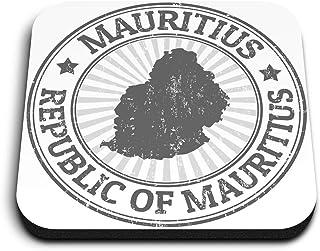 Aimants carrés en MDF Destination Vinyl ltd - BW - Carte de l'Afrique de Maurice pour bureau, armoire et tableau blanc, au...