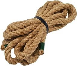 100% Natural Jute Rope Hemp Rope 20 Feet 1/2 Inch Strong Jute Twine for DIY Crafts Gardening Hammock Home Decorating