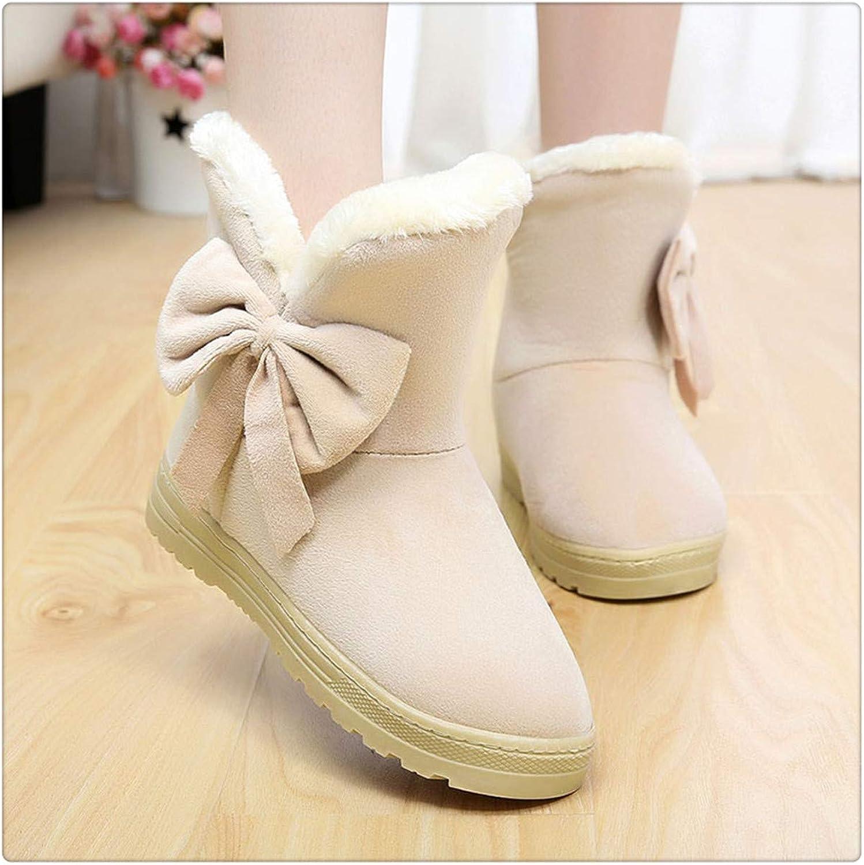 TRFLH& Cute Cat Warm Boots Women Family Christmas Cotton Winter shoes Women Boot Beige