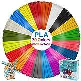 GLKEBY Bolígrafo de impresión 3D, con filamento de 18 Colores
