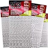 MDS Brand Kleinbuchstaben 4X Groß Klebebuchstaben 6' Farben für Kerzen & Scrapbook 71(Silber)