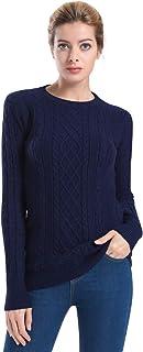 Ninovino Women's Crew Neck Cable Knit Long Sleeve Tunic Sweater