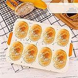 LEAMALLS Silicona Molde para Pan Antiadherente caseros Torta Muffin pudín Pastel de Galletas Chocolate repostería Menaje de Cocina (Multicolor)