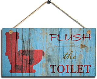 SAC SMARTEN ARTS Bathroom Wall Decor, Funny Rustic Bathroom Decoration for Wall Pictures Signs Seats Up & Use Soap 11.5