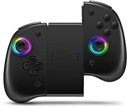 $56 » Sponsored Ad - Binbok Joypad Controller, Wireless Joycon Support 8 Color Adjustable LED, Wake-up Function with Dual Vibrat...