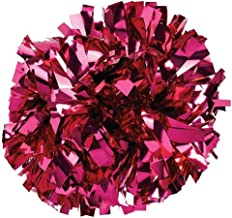 Pizzazz Metallic Hot Pink Cheer Single Pom Pom