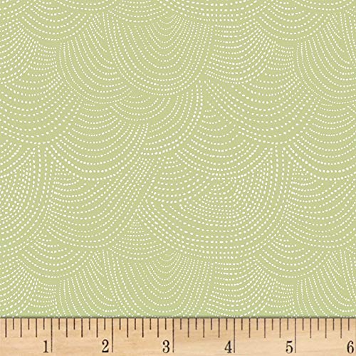 Dear Stella Designs Scallop Dot Quilt Fabric, Leek, Quilt Fabric By The Yard