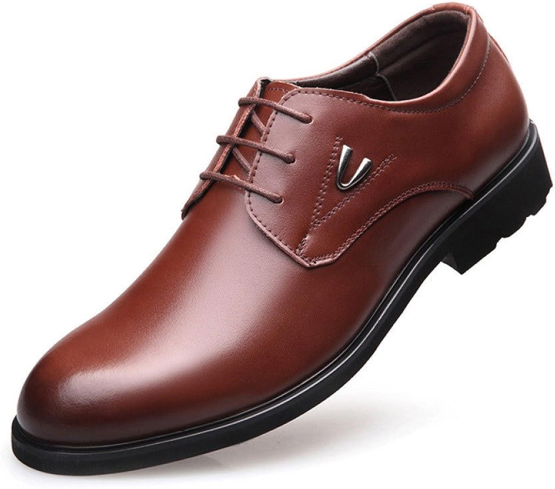 LEDLFIE Men's shoes Business Dress shoes Non-Slip Wearable Breathable Single shoes