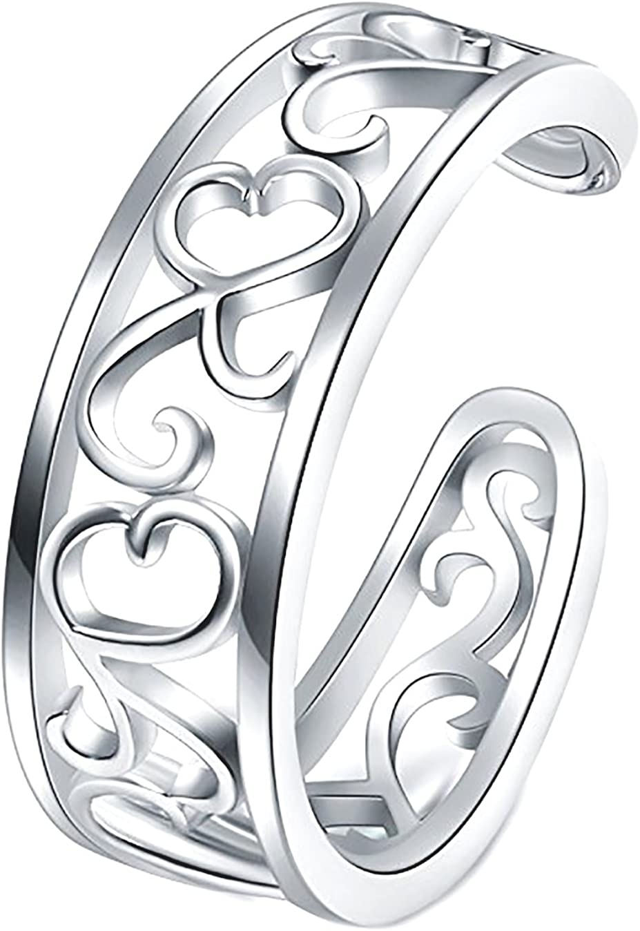 Luxury goods BORUO 925 Sterling Silver Toe Leaf 2021 model Adjusta Flower Ring Hawaiian