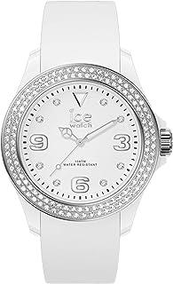 Ice-Watch - Ice Star White Silver - Montre Blanche pour Femme avec Bracelet en Silicone - 017231 (Medium)