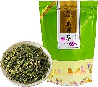 FullChea - Longjing Tea - Dragonwell Tea - Chinese Green Tea Loose Leaf - Toasty Bean Aromatic - Lung Ching Dragon Well (...