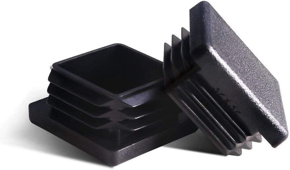 uxcell 12Pcs 60mm Dia Plastic Tubing Plug Round Post End Caps for Handrail Stair Newel Guardrail Tube Black