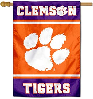Clemson Tigers Two Sided and Double Sided House Flag