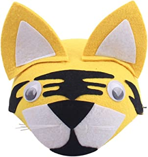 Remeehi Cartoon Animal Children Hats Kindergarten Role-Playing Children Theater Festival Dressed Head Decoration Tiger