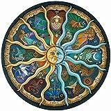 Jiahuade Puzzle Circular Rompecabezas Redondo 1000 Piezas Puzzles Grandes Puzzle Redondo 1000 Piezas Puzzle Creativo Puzzle Adultos 1000 Piezas Juguete Educativo(12 Constellations)