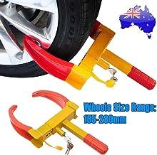 OZSTOCK® Wheel Clamp Lock Heavy Duty Vehicle Caravan Car Security Anti Theft 2 Keys