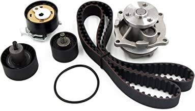Timing Belt Water Pump Kit fits for 2000 2001 2002 2003 2004 Ford Focus, 2001-2004 Ford Escape, Mazda Tribute, 1999-2003 Ford Escort, 1999-2002 Mercury Cougar 2.0L DOHC