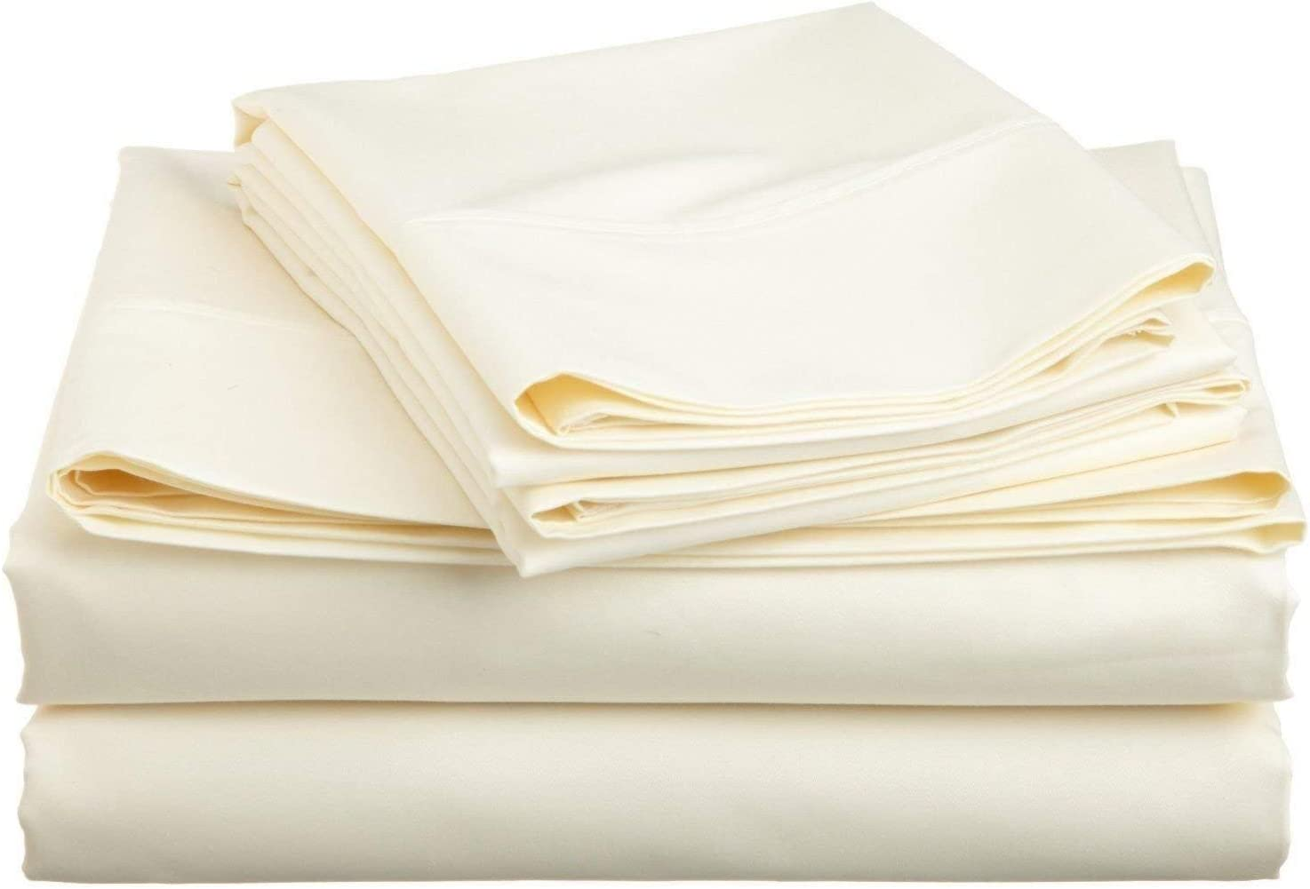 Solid Style Rich 4-PCs Sheet Set Max 56% OFF Genuine Free Shipping Combed Fits 1500-TC Cotton 21-2