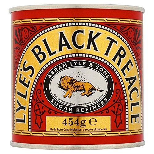 Lyle's Black Treacle Lot de 2 pots de mélasse, 454g
