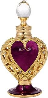 YUFENG Heart Shape Enameled Empty Refillable Perfume Bottle (purple)