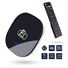 Android 8.1 TV Box,Dolamee F1 Smart tv Box 2GB RAM 16GB ROM Amlogic Quad Core 64bit Processor Smart Media Player,Support 4K 1080P 3D 2.4GHz WiFi 10/100M Ethernet LAN