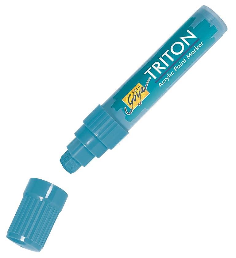 Kreul 17946?(Solo Goya Triton Chisel Tip Acrylic Paint Marker 15?mm) Turquoise Blue