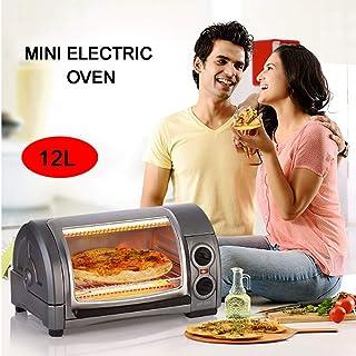 L.TSA Mini Horno eléctrico de Cocina, Mini Horno Multifuncional Pizza Machine Mini Cake Machine 220V, se Puede configurar el Tiempo, Tapa Superior Diseño de Superficie Curva de 12 litros, Adecuado