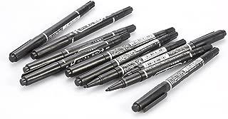 Tattoo Marking Pen,10PCS/Box Black Double Ended Skin Marker Tattoo Piercing Positioning Marking Pen Tool