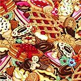 Timeless Treasures Stoff mit eingepackten Süßigkeiten aus
