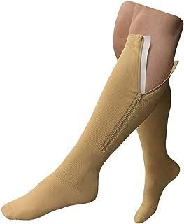 HealthyNees 15-20 mmHg Zipper Compression Extra Plus Size Calf Closed Toe Sock