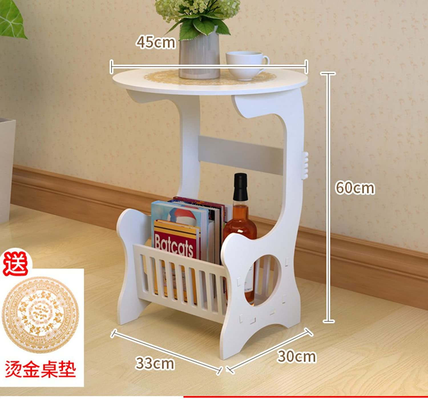 Simple White Bedside Table Simple Modern Bedside Cabinet Mini White Assembled Locker Living Room to Receive Small cabinets-B