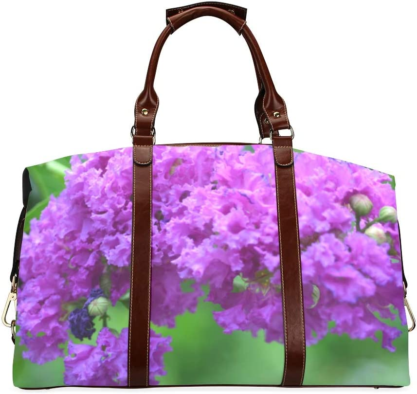 Free shipping anywhere in the nation Carryon Duffel High material Bag Blooming Crape Water Classic Myrtle Oversized