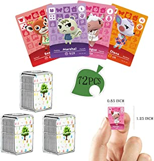 72 PCS NFC Tag Game Cards Rare Villager for Animal Crossing New Horizons con Crystal Storage Box, adatto per Switch/Switch...