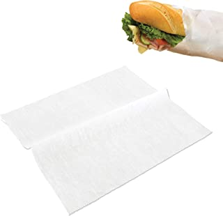 [500 Pack] Interfolded Food and Deli Dry Wrap Wax Paper Sheets with Dispenser Box, 12 X 10.75 Inch