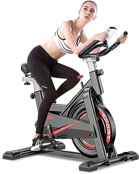 Bicicletta da allenamento da interno per casa, palestra, regolabile, display lcd con cardiofrequenzimetro T5008-Spinning Bike