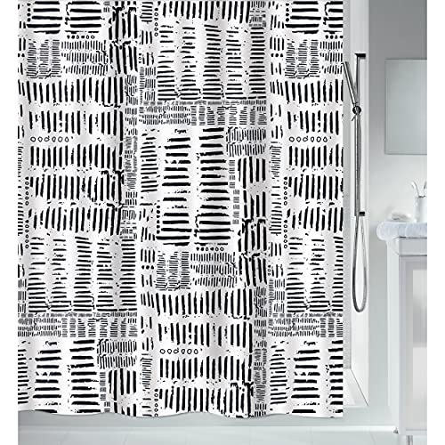 """Spirella Anti-Schimmel Duschvorhang - Anti-Bakteriell, waschbar, wasserdicht, Polyester, """"Connection"""" 180x200cm Terracotta Beige"""