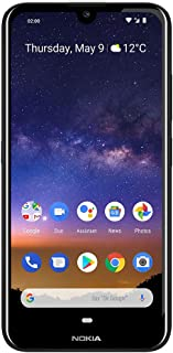 "Nokia 2.2- Android 9.0 Pie - 32 GB - Single Sim Unlocked Smartphone (AT&T/T-Mobile/Metropcs/Cricket/Mint) - 5.71"" HD+ Screen - Black - U.S. Warranty"