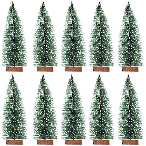 BESLIME Artificial Mini Sisal - Árbol de Navidad en Miniatura, Mini árbol...