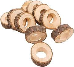Soimiss 10 peças criativas de madeira para velas de candelabro ornamento de madeira