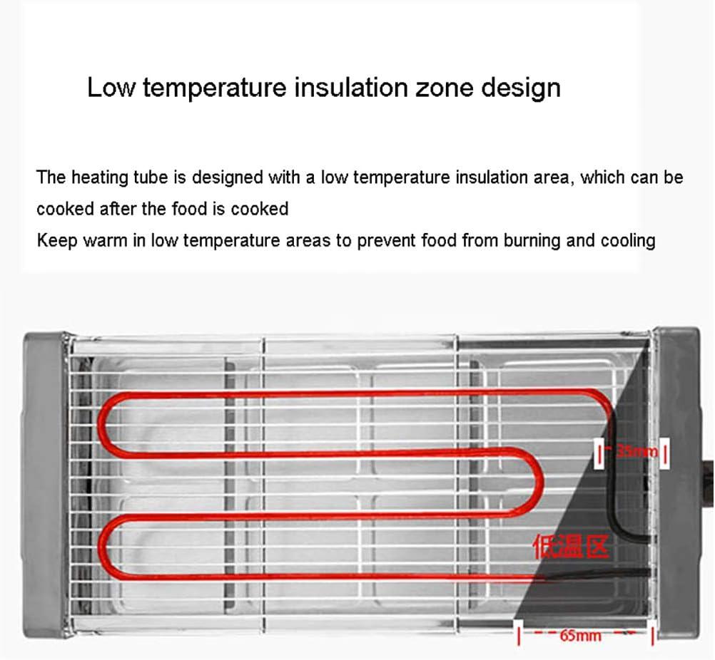 WYQ sans fumée électrique Double Couche Grill Multi-Fonction électrique de Cuisson Salle Pan antiadhésive, Facile à Nettoyer, Chauffage température constante,2 2