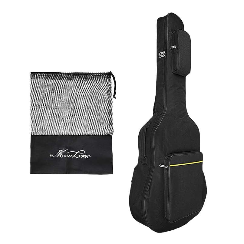 クローンにじみ出る広範囲エレキギター ギターケース 2018 クッション付き リュック ギグバッグ 40寸 41寸 ギターバッグ ソフト 大容量 頑丈 防水 楽器用 軽量 ケース 手提げ リュックサック 41サイズ 持ち運び ギター 無地 機能性 ブラック